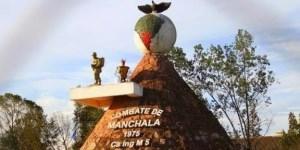 El monumento que recuerda el combate contra el ERP.