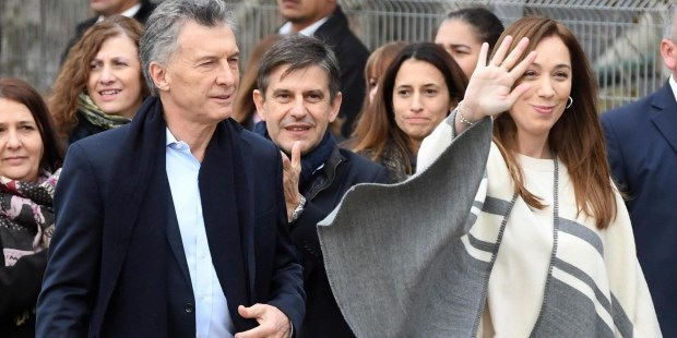 Macri y Vidal.