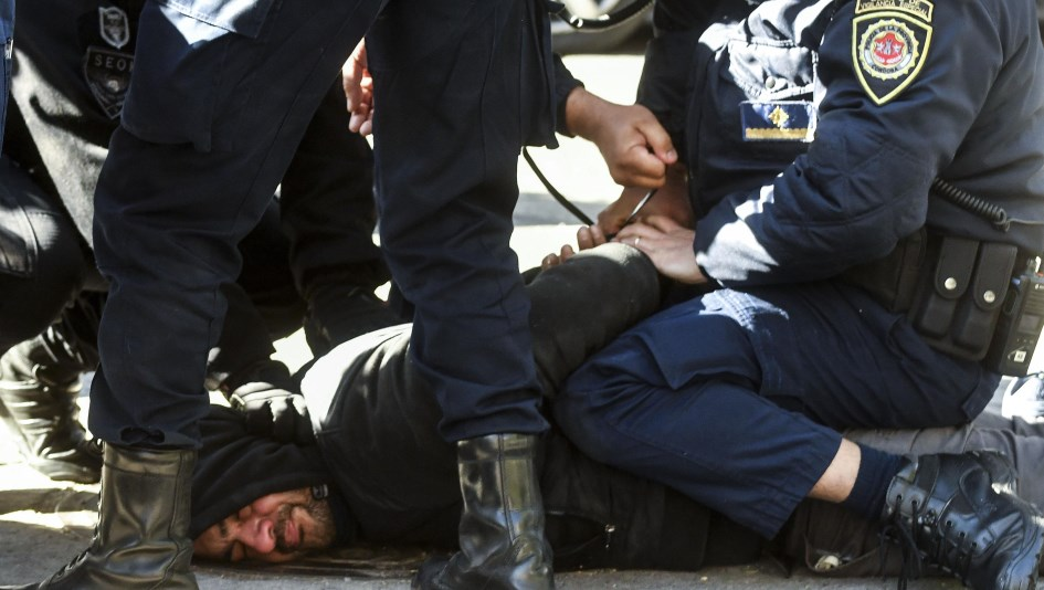 Protesta de choferes de UTA con incidentes y detenidos en Córdoba