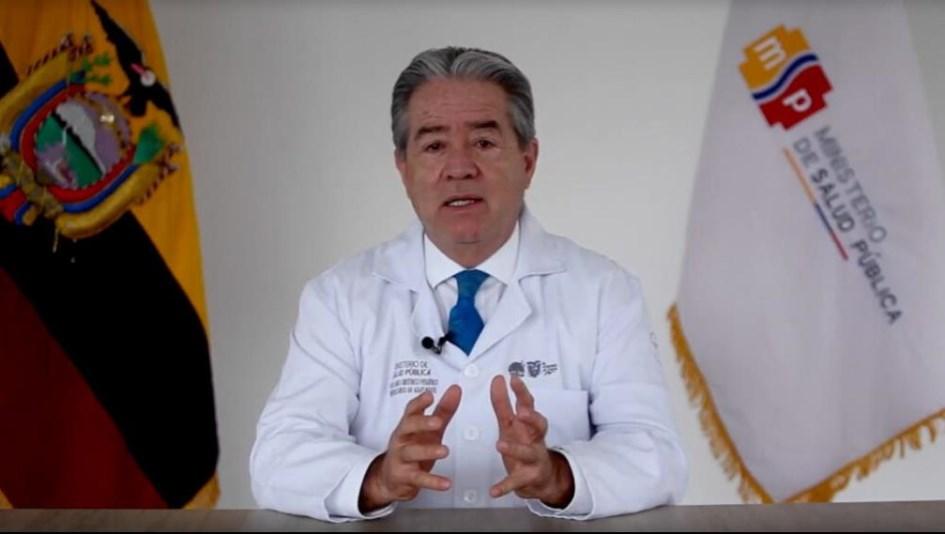Renunció el ministro de Salud de Ecuador, cuestionado por el manejo de las vacunas