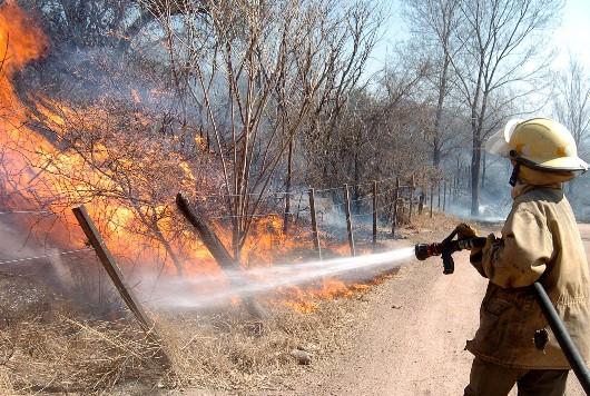 Incendio en Calamuchita