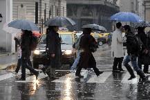 Fuerte temporal de lluvia en Capital y Gran Buenos Aires