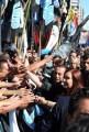 Cristina saludó a la militancia en el Congreso y hasta bailó