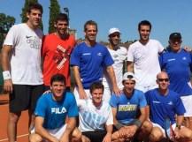 Se entrenó el equipo de Copa Davis con la presencia de Del Potro