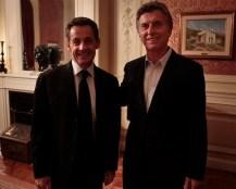 Macri se reunió con el ex presidente de Francia Nicolás Sarkozy