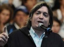 """Máximo dijo que es """"muy sano para la democracia"""" que haya gente que quiera despedir a la Presidenta"""