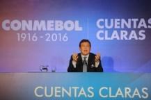 """""""El objetivo era el dinero y el fútbol un medio para obtenerlo"""", denunció el presidente de la Conmebol"""