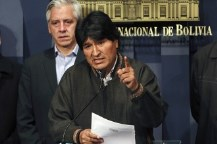 """Evo Morales calificó de """"cobarde e imperdonable"""" el crimen"""