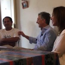 Tras el retiro en Chapadmalal, Macri visitó a un empleado de la construcción en Moreno junto a Vidal