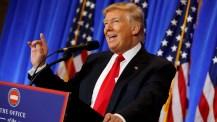 """Trump insiste en que México pagará por el muro fronterizo y dijo sobre el 'hackeo': """"creo que fue Rusia"""""""
