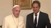 El Papa recibió a Scioli en el Vaticano
