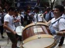 Caló encabezó una protesta frente al ministerio de Trabajo