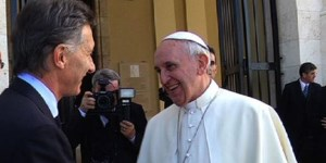 El Papa Francisco y Mauricio Macri.