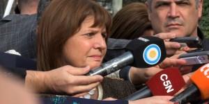 La ministra de Seguridad, Patricia Bullrich.