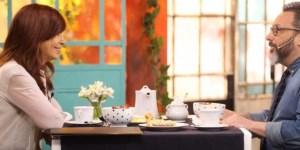 """Cristina Fernández en el programa """"Morfi, todos a la mesa"""" de Telefé."""