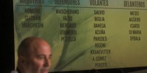El entrenador del seleccionado de fútbol argentino,Jorge Sampaoli, presentó hoy en conferencia de prensa la lista de convocados para la serie amistosa