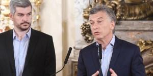 El presidente de la Nación, Mauricio Macri, acompañado por el Jefe de Gabinete Marcos Peña, brindaron una conferencia de prensa realizada en el Salón