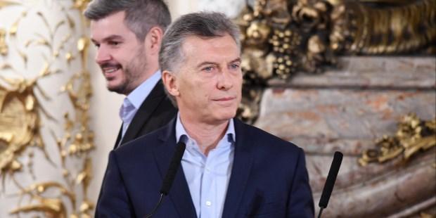 El presidente Mauricio Macri brindó una conferencia de prensa en Casa Rosada.