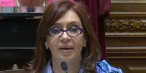 Cristina Kirchner en el Senado. Foto: Archivo