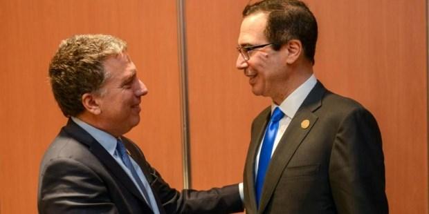 Dujovne se reunió con el secretario del Tesoro de Estados Unidos, Steven Mnuchin.