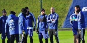 Sin Messi, el seleccionado argentino se entrenó en Manchester