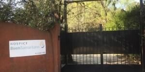 La entrada al Hospice Buen Samaritano, un proyecto familiar para los que lo necesitan.