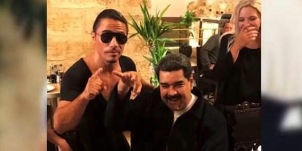 """""""Esto es una sola vez en la vida, ¿verdad?'', dice Maduro en el video donde se lo ve disfrutando de un fastuoso banquete en Estambul."""