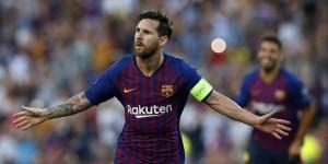Una imagen mil veces repetida. Messi con los brazos abiertos, celebrando un nuevo gol de su autoría para Barcelona.