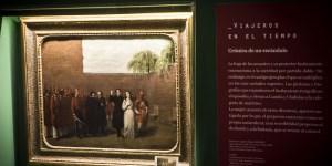 """""""El fusilamiento de Camila O""""Gorman"""", de Francesco Augero, forma parte de la muestra, junto ejemplares de libros de visitantes extranjeros. Fotos Créd"""