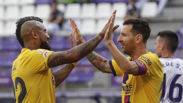 Barcelona Gano Con Un Record De Messi Y No Pierde Las Esperanzas Deportes Diario La Prensa