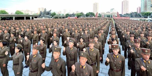 Resultado de imagen para Corea del Norte anunció que 3,5 millones de voluntarios se alistaron